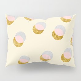 Gold and Pastel Pillow Sham