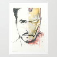 ironman Art Prints featuring Ironman by Dave Seedhouse.com