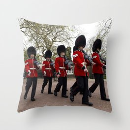 Changing the Guard London Throw Pillow