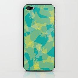 Blue & Yellow Corgi Pattern iPhone Skin