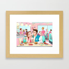 Love at Peggy's Framed Art Print
