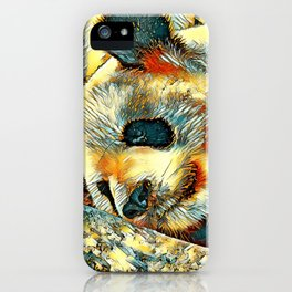 AnimalArt_Panda_20170810_by_JAMColors iPhone Case