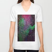 firefly V-neck T-shirts featuring Firefly by Joseph Mosley