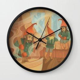 Finnish House Elves Wall Clock