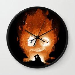 Midnight Calcifer Wall Clock