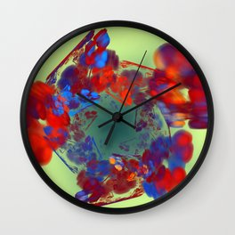 The Flower I Love Wall Clock