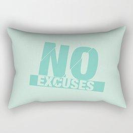 No Excuses - Mint Rectangular Pillow