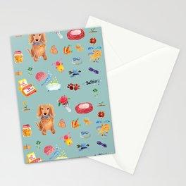 Daschund's life Stationery Cards
