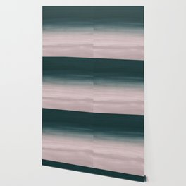 Touching Teal Blush Watercolor Abstract #1 #painting #decor #art #society6 Wallpaper