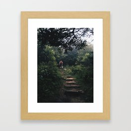 left without being seen Framed Art Print