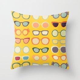 Sunny 50s Retro Glasses Throw Pillow