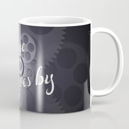 """As Time Goes By"" - black and white vector artwork Coffee Mug"