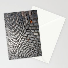 Leaves on cobblestones Stationery Cards