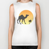 camel Biker Tanks featuring Camel by Geni
