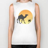 camel Biker Tanks featuring Camel by Geni