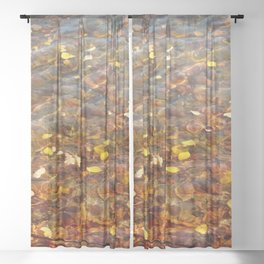 Fall in the Water 56 Sheer Curtain