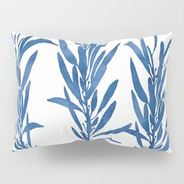 Eucalyptus Branches Blue Pillow Sham
