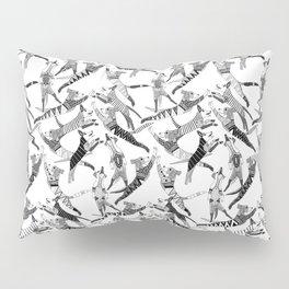 dog party black white Pillow Sham