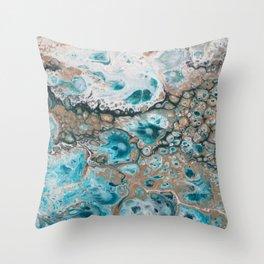 Beach Shallows 4 Throw Pillow