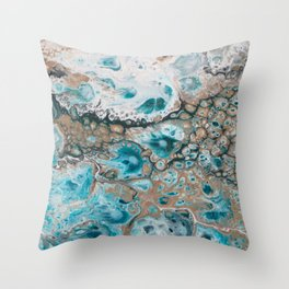 Beach Shallows 4 Throw Pillow