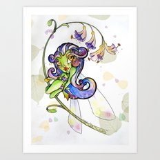 Lilium Fairy Art Print