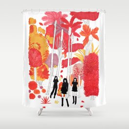 fall leaves version 1 Shower Curtain