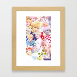 Woozi Collage Framed Art Print