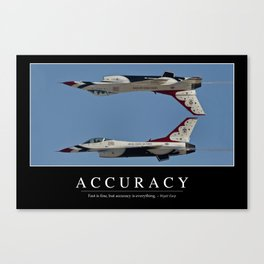 Accuracy: Inspirational Quote and Motivational Poster Canvas Print
