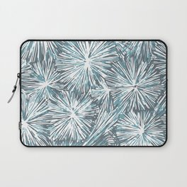 Underwater Plant Life in Blue-Green and Gray Laptop Sleeve