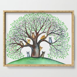 Cheyenne Whimsical Cats in Tree Serving Tray