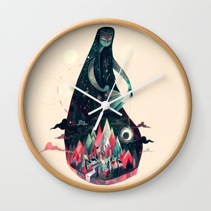 Night Time. Wall Clock