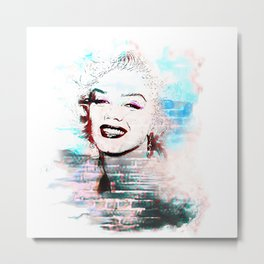 Marilyn pop art derivative work Metal Print