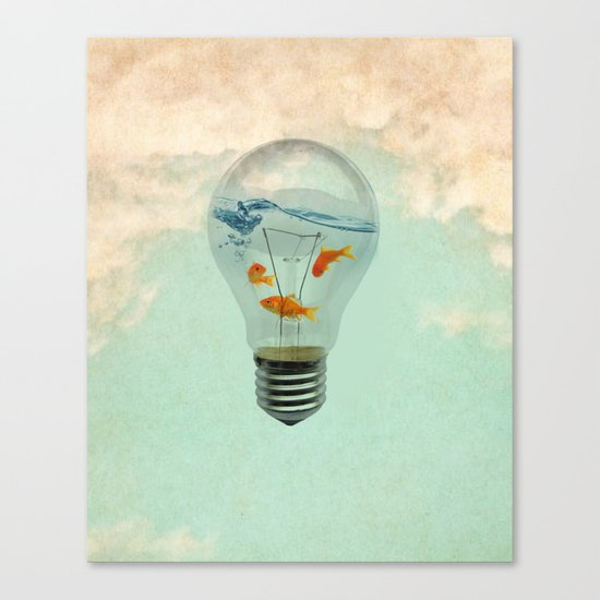 ideas and goldfish 02 Canvas Print