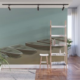 Boats on the shore Wall Mural