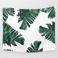 Banana Leaf Watercolor Pattern #society6 Wall Tapestry