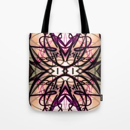 Loopy Lines Abstract Art Plum and Peach Tote Bag