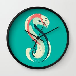 S for Seahorse Wall Clock