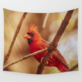 Male Northern Cardinal Wall Tapestry