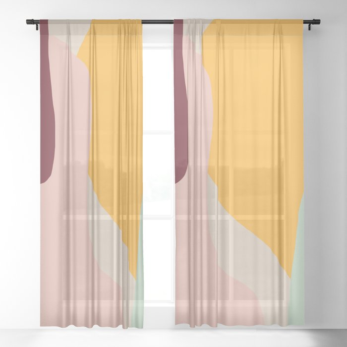 Ziz Abstract Painting Sheer Curtain
