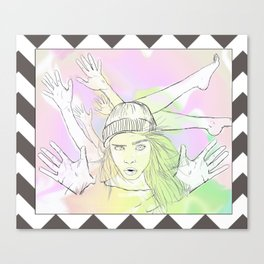 Cara Wid Color Canvas Print