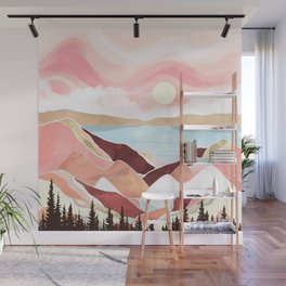 Autumn Lake Sunrise Wall Mural