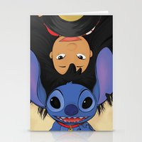 lilo and stitch Stationery Cards featuring Lilo & Stitch by Ashleigh Jane