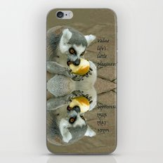 VALUE LIFE'S LITTLE PLEASURES iPhone & iPod Skin