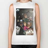 returns Biker Tanks featuring Gravity Falls Returns by Auraya Frost