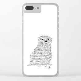 Otter lover typography Clear iPhone Case