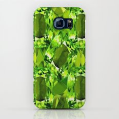 Chartruse-Yellow-Green Peridot Gems Abstract for August Galaxy S6 Slim Case