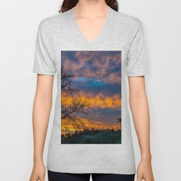 Back Bay Colors at Sunset Unisex V-Neck