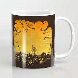 Halloween Pumpkin Faces Coffee Mug