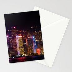 Hong Kong at Night Stationery Cards