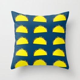 omg tacos! on navy Throw Pillow